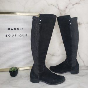 Blondo leather suede knee high boots